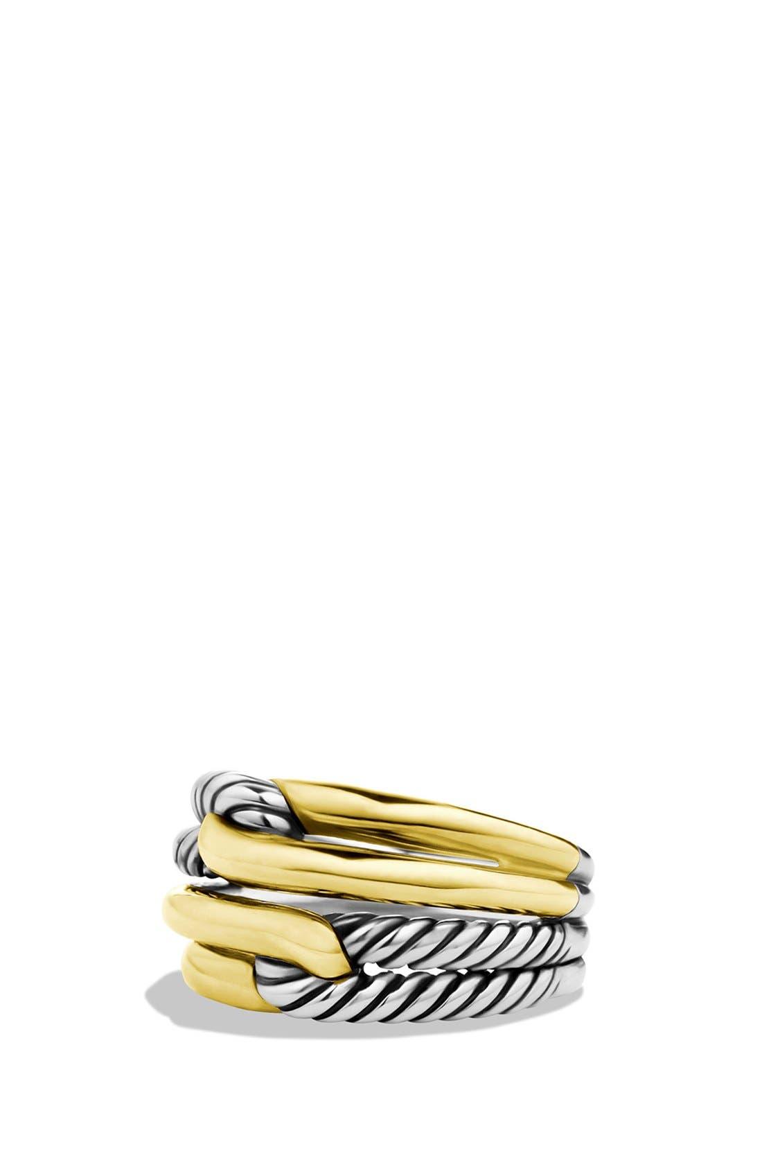 Main Image - David Yurman 'Labyrinth' Double-Loop Ring with Gold