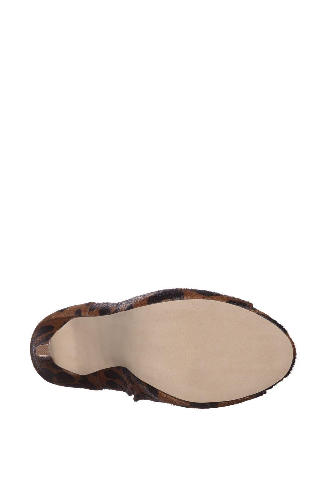 Alternate Image 4  - The Blonde Salad x Steve Madden 'Milan' Leopard Print Calf Hair Peep Toe Bootie