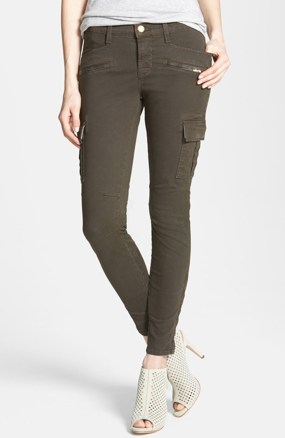 Alternate Image 1 Selected - J Brand 'Grayson' Zip Detail Cargo Skinny Jeans (Mantis)