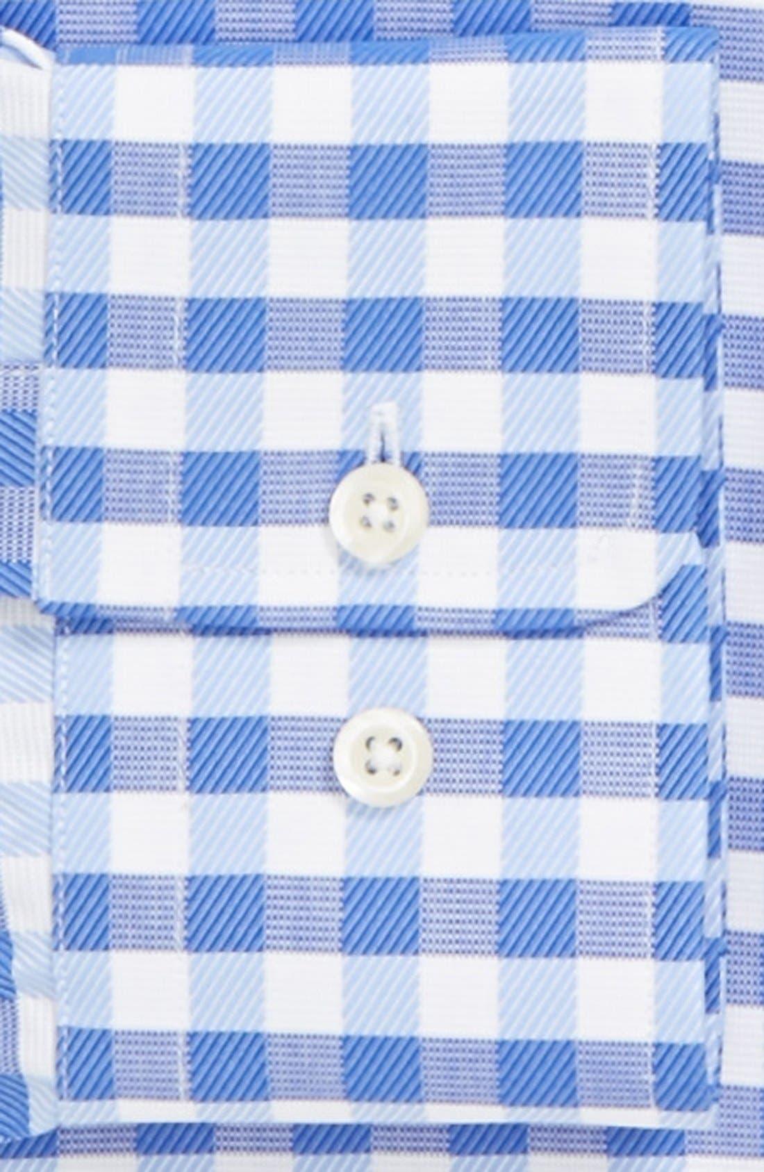 Alternate Image 2  - David Donahue Trim Fit Gingham Dress Shirt