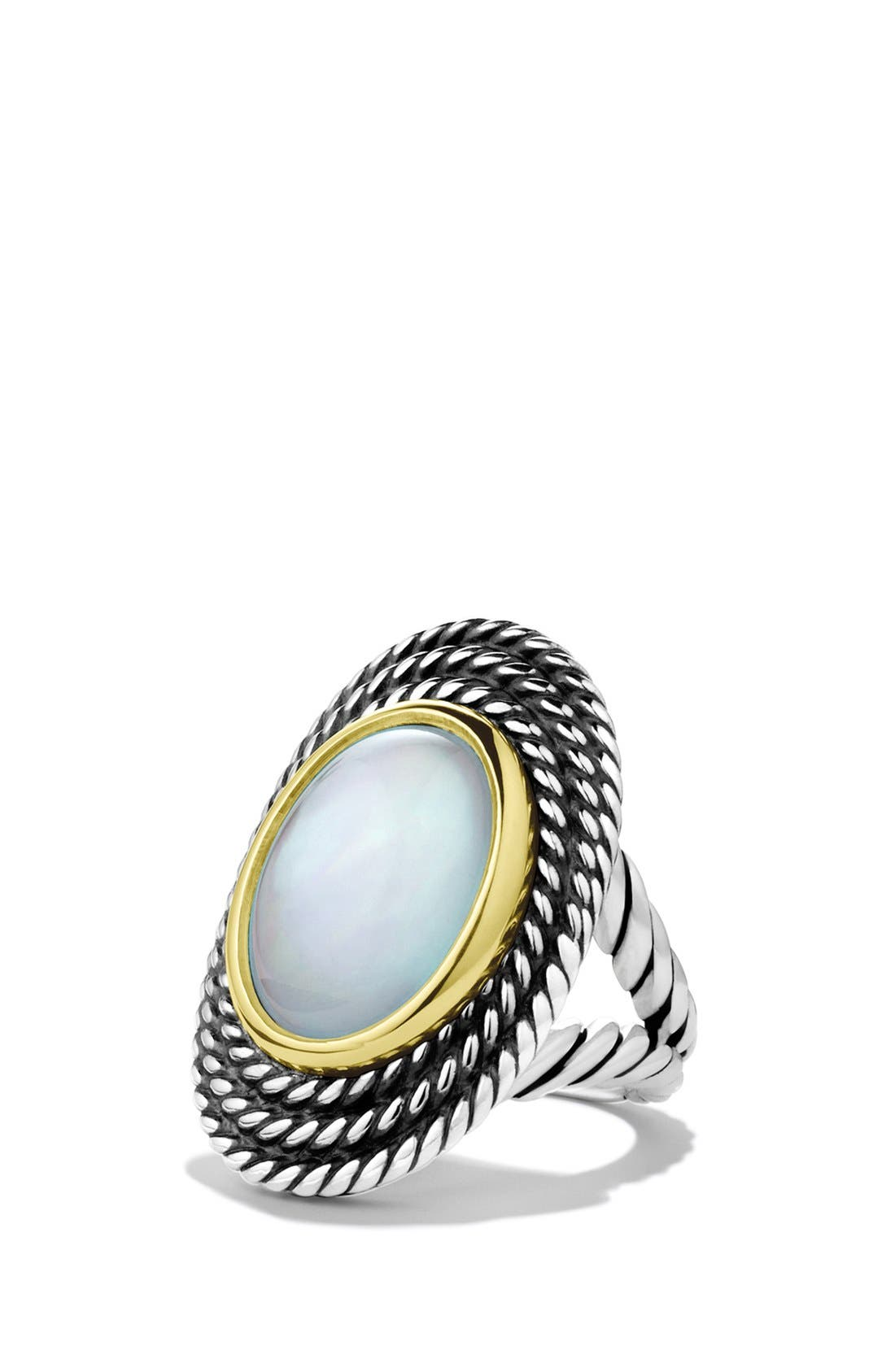 Main Image - David Yurman 'Cable Coil' Ring with Moon Quartz and Gold