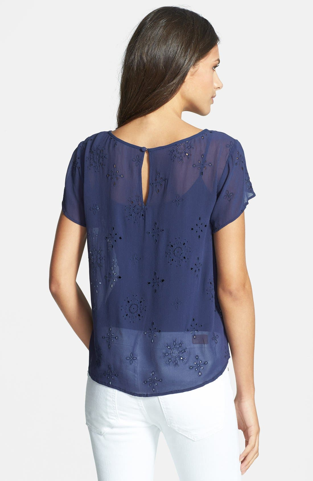 Alternate Image 2  - Joie 'Rayelle' Eyelet Silk Top