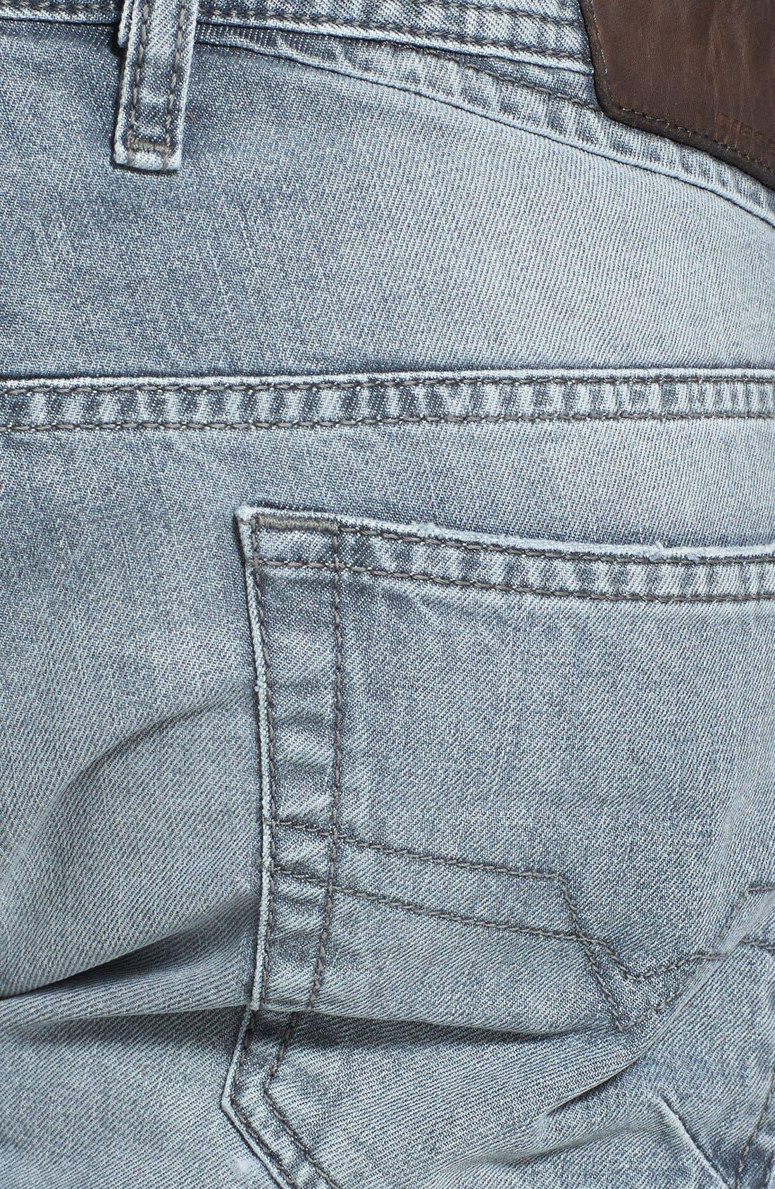 Alternate Image 4  - DIESEL® 'Shioner' Skinny Fit Jeans (Black)