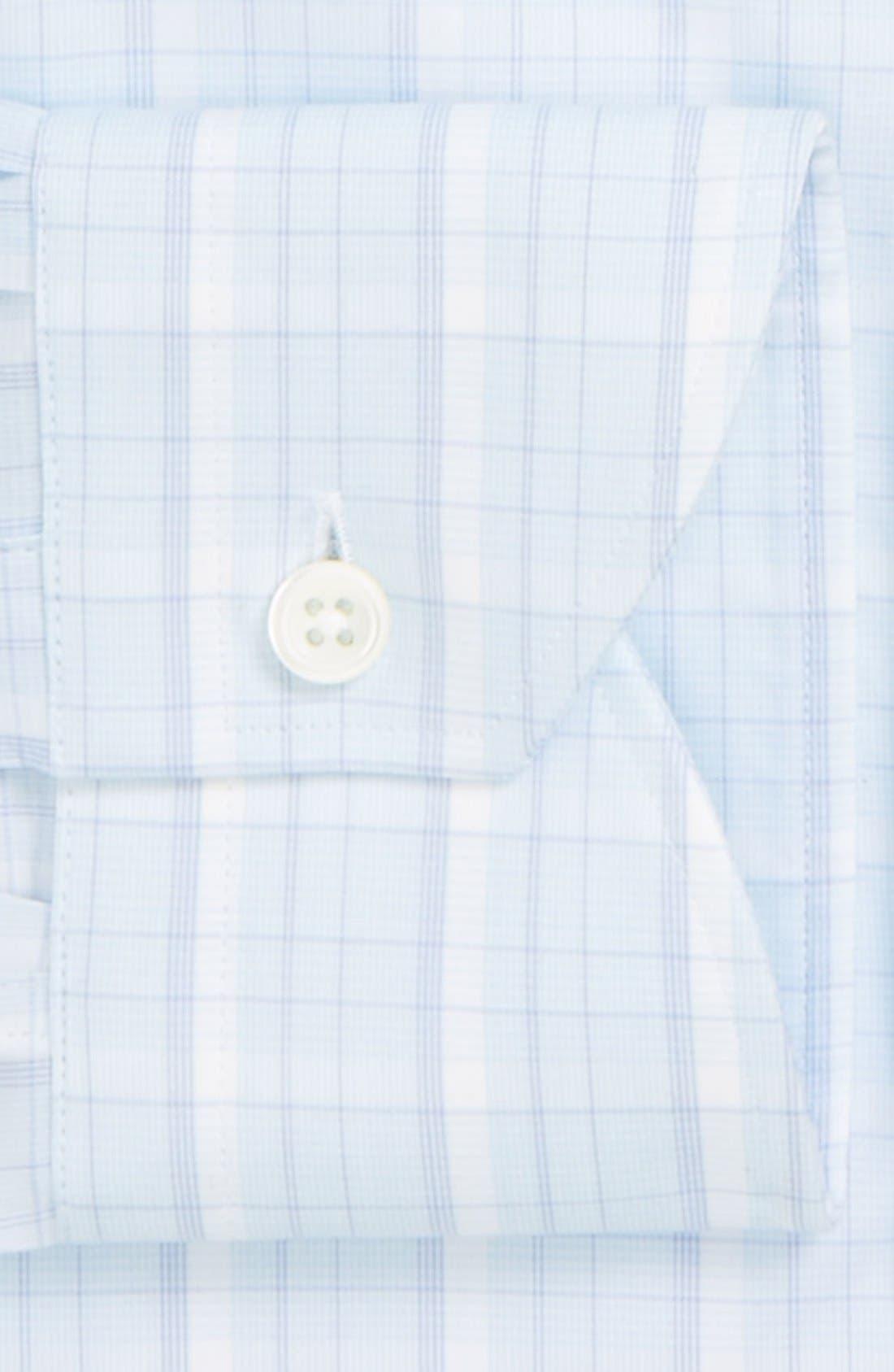 Alternate Image 2  - Canali Poplin Graph Check Regular Fit Dress Shirt