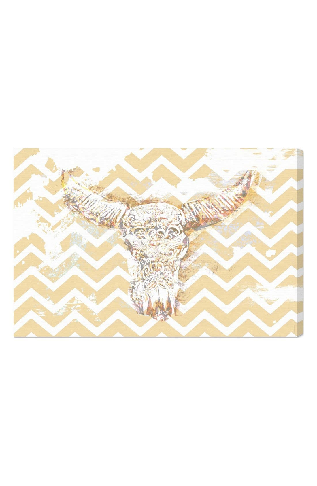 Alternate Image 1 Selected - Oliver Gal 'Chevron Skull' Wall Art