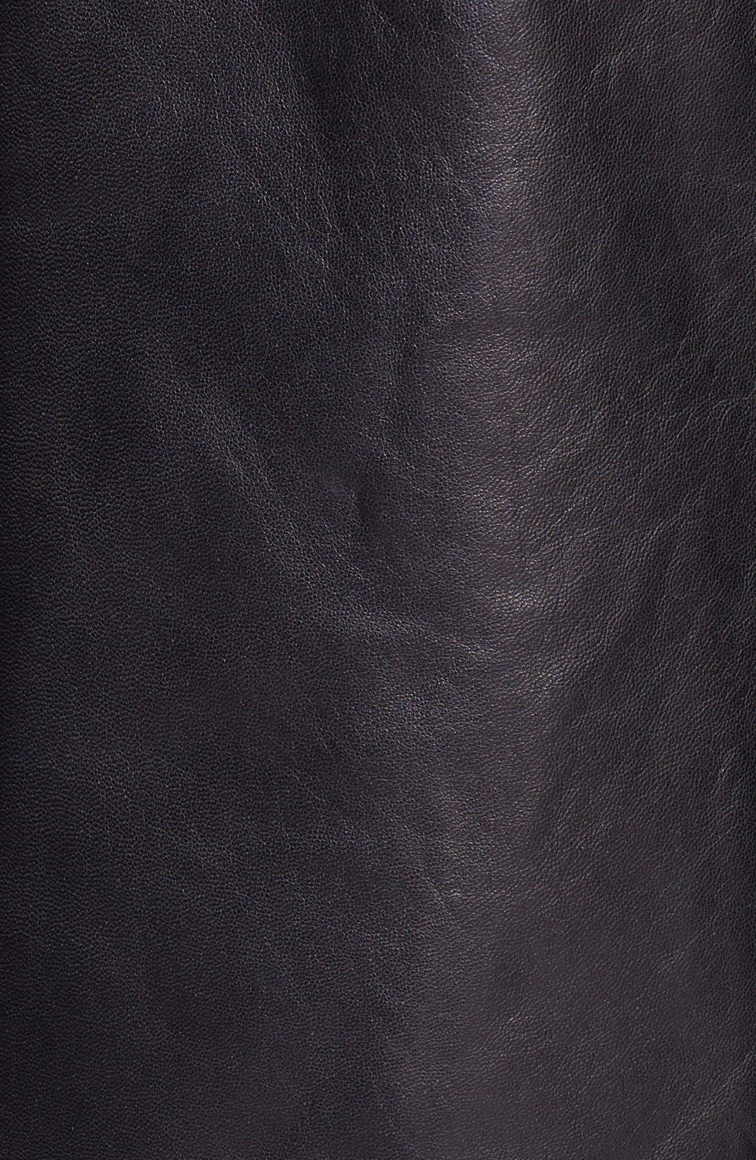 Alternate Image 3  - Ellen Tracy Leather Car Coat (Petite)