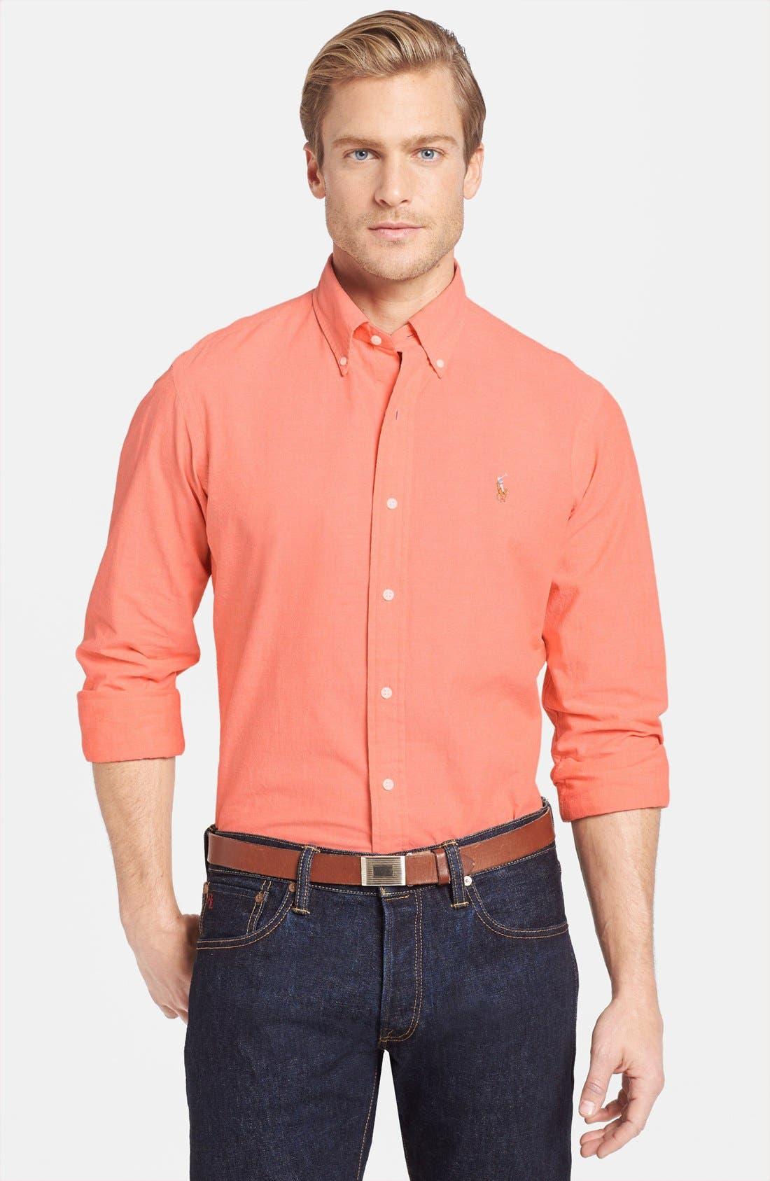 Alternate Image 1 Selected - Polo Ralph Lauren Custom Fit Chambray Sport Shirt