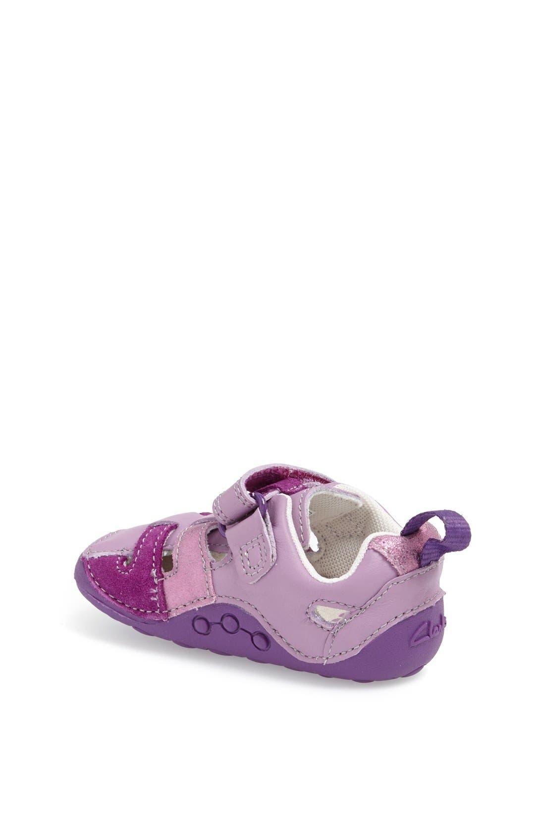 Alternate Image 2  - Clarks® 'Tiny Girl' Leather Sandal (Baby & Walker)
