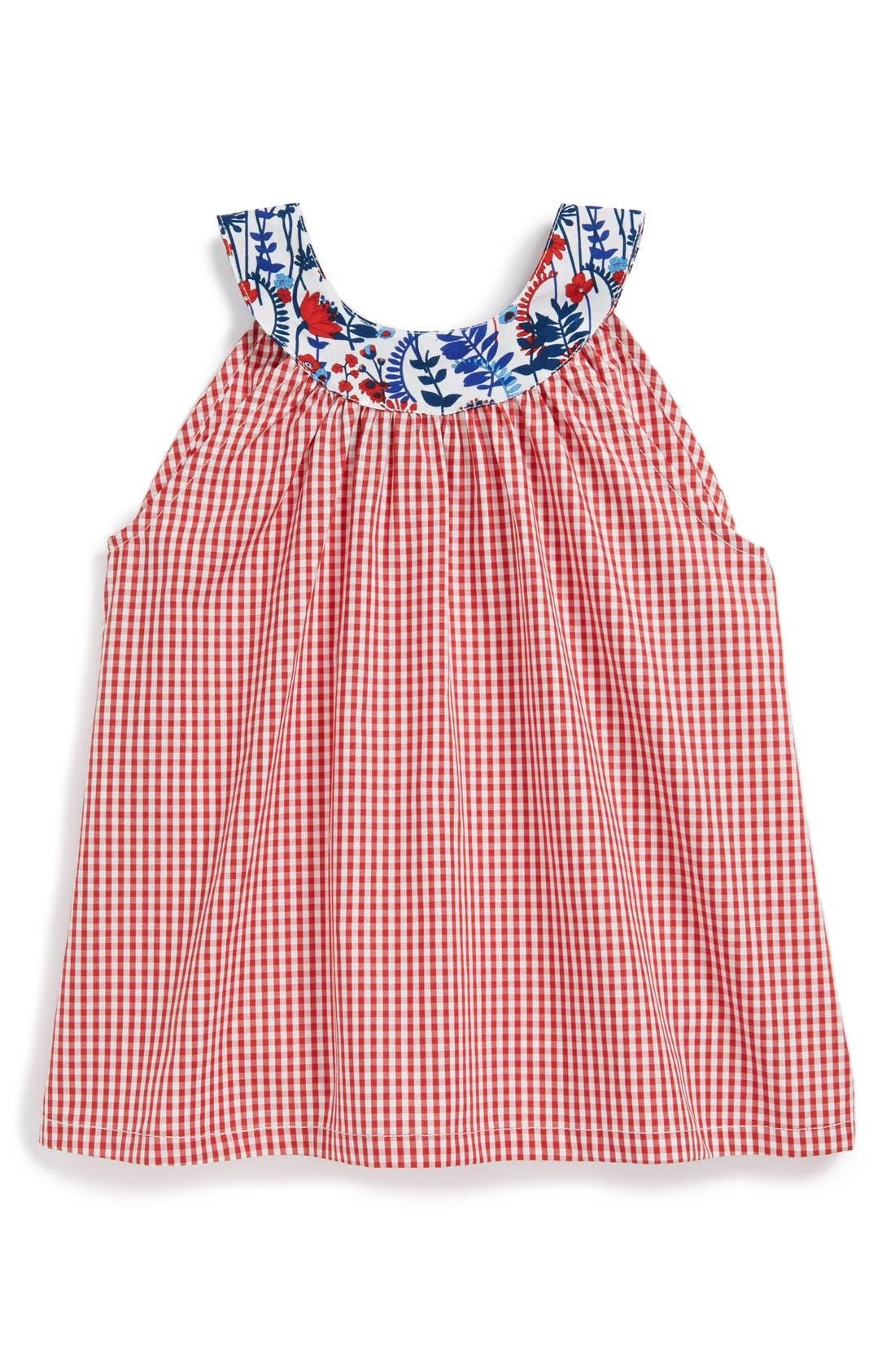 Alternate Image 1 Selected - Oscar de la Renta 'Circle' Check Tank Top (Toddler Girls, Little Girls & Big Girls)