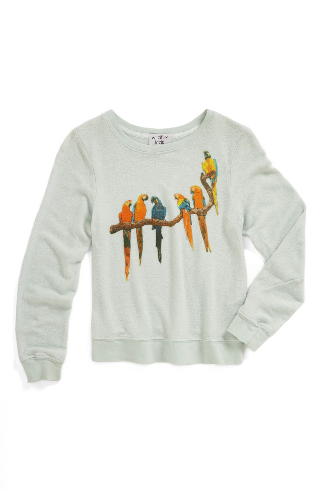 Main Image - Wildfox 'Baggy Beach' Sweatshirt (Big Girls)