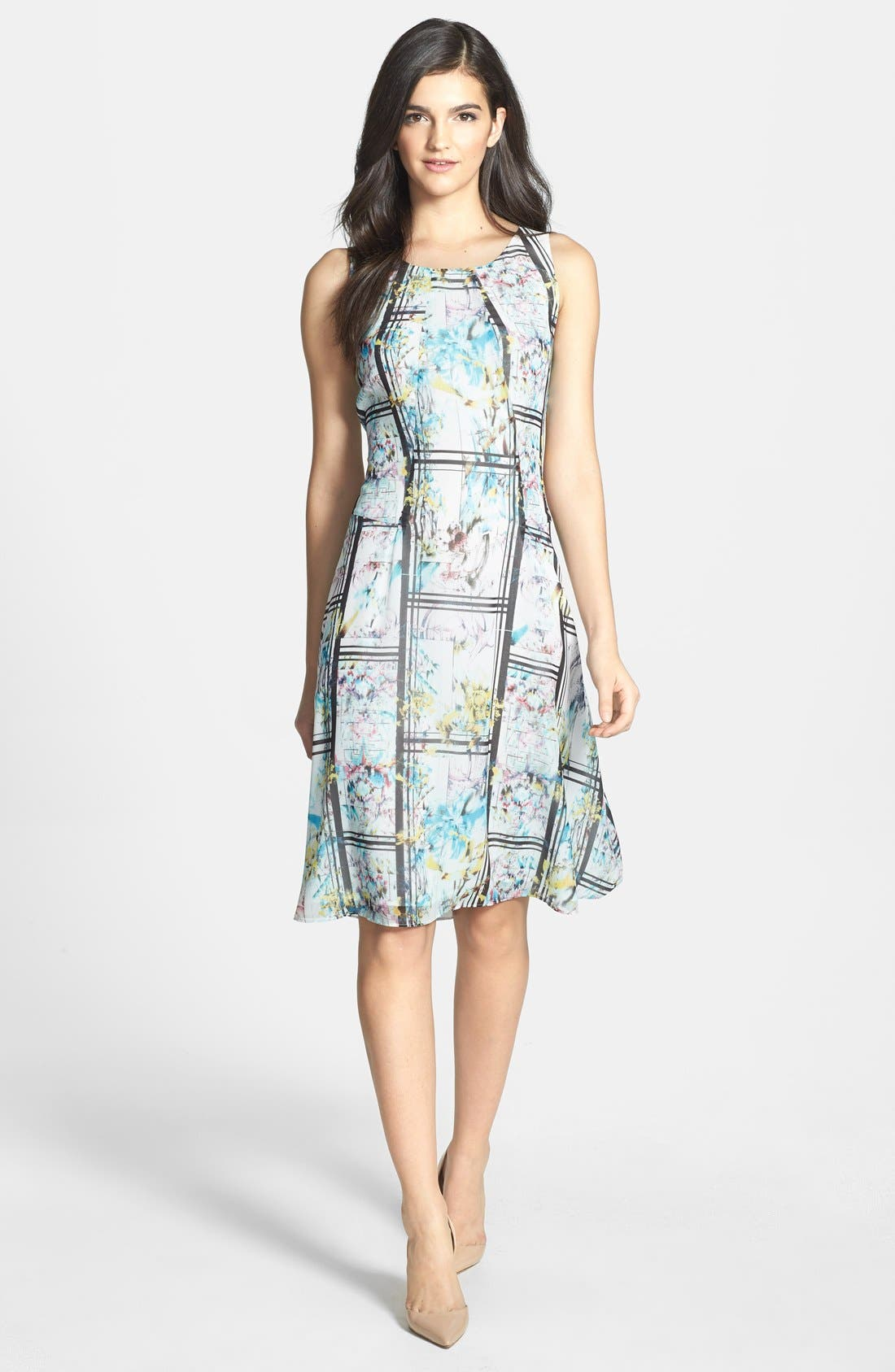 Alternate Image 1 Selected - Chelsea28 Photorealistic Print Fit & Flare Dress