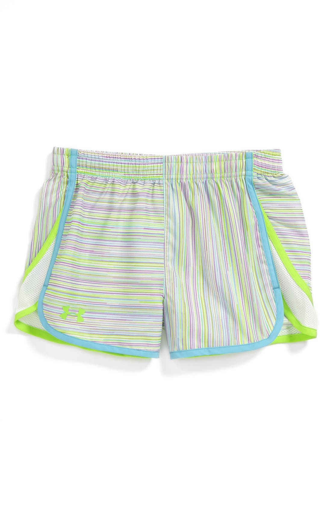 Alternate Image 1 Selected - Under Armour 'Escape' HeatGear® Print Shorts (Big Girls)