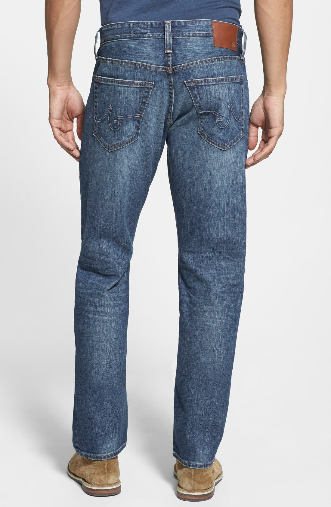 Alternate Image 2  - AG 'Graduate' Tailored Fit Straight Leg Jeans (13 Years Launch)