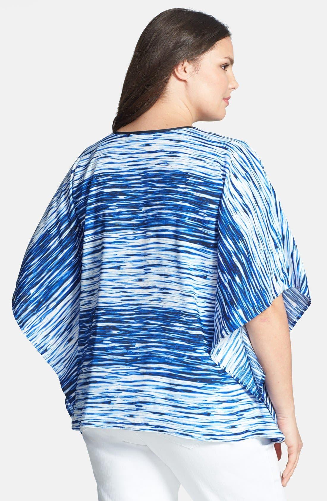 Alternate Image 2  - Vince Camuto 'River Stripe' Woven Caftan Top (Plus Size)