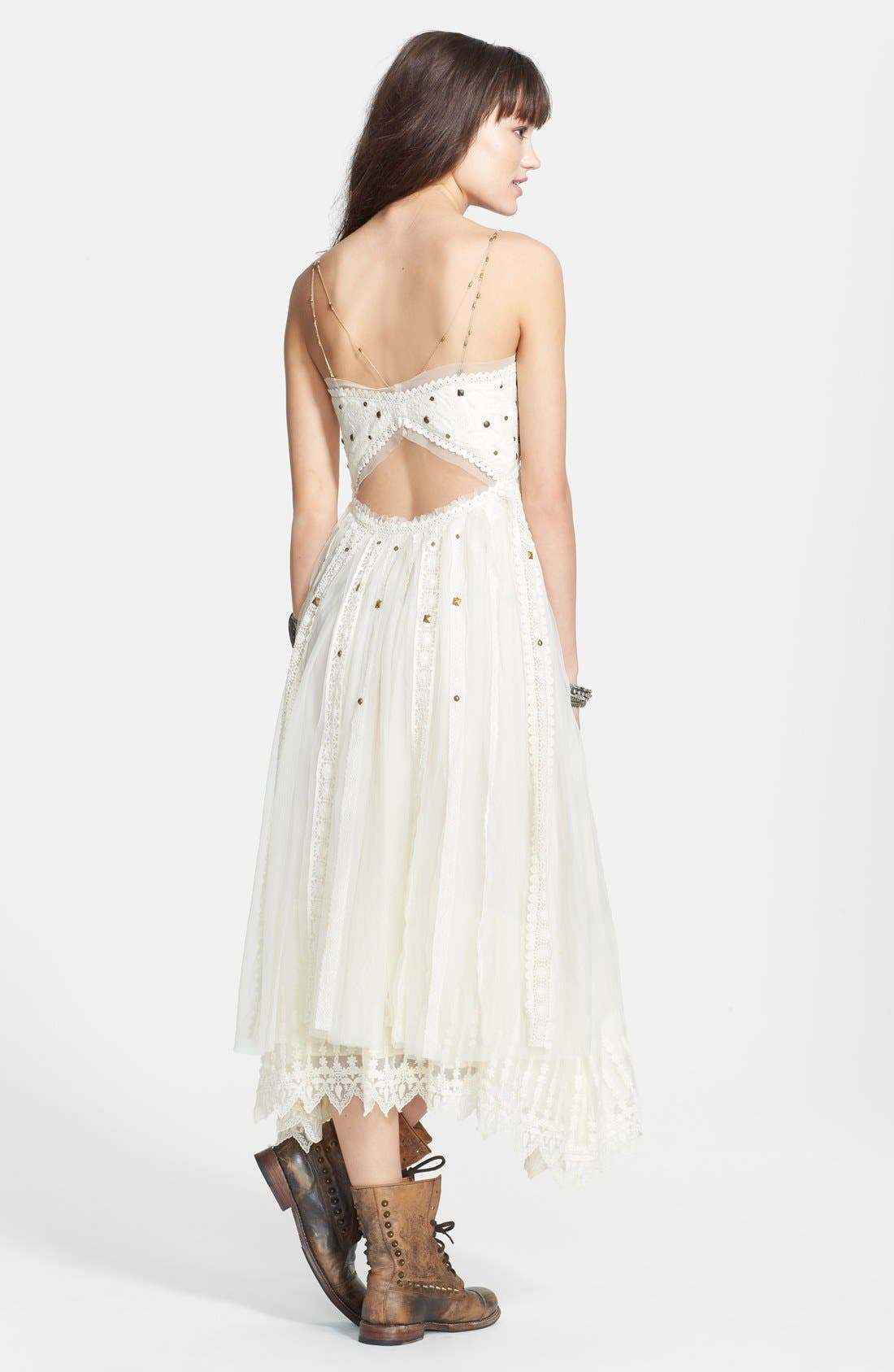 Alternate Image 2  - Free People Stud Lace Trim Midi Dress
