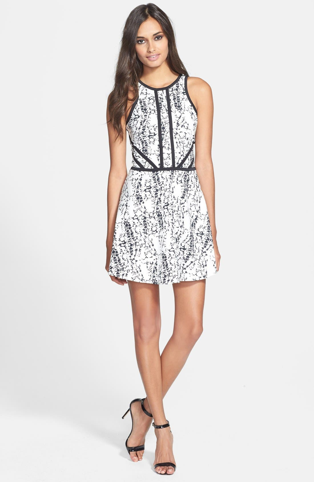 Alternate Image 1 Selected - Parker 'Shelby' Print Cotton Blend Fit & Flare Dress