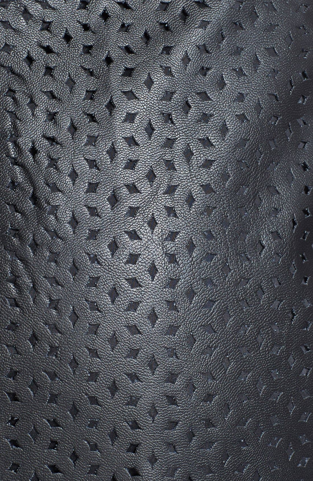 Alternate Image 3  - Black Halo 'Blayze' Laser Cut Faux Leather & Gabardine Dress