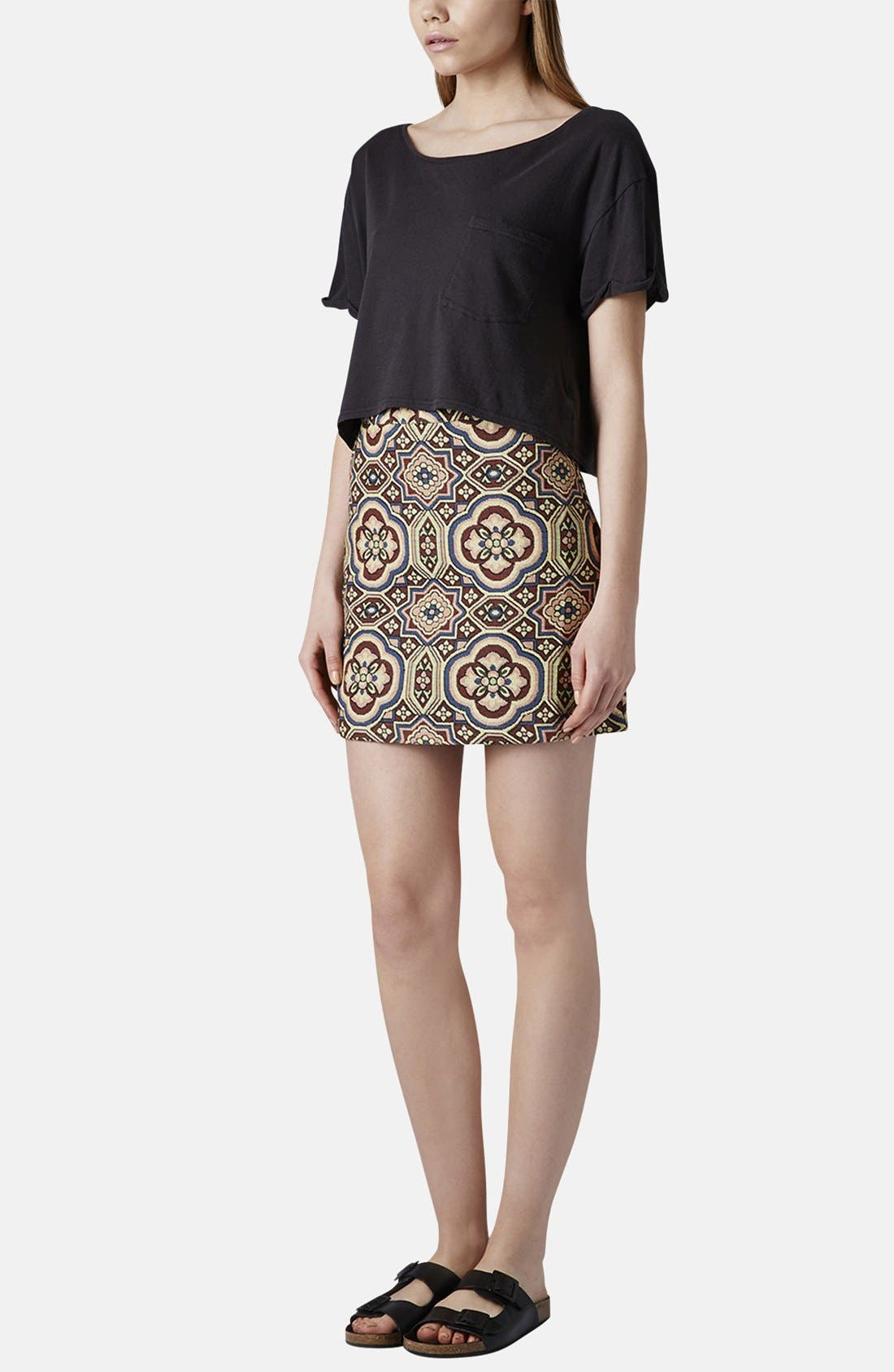 Alternate Image 5  - Topshop Folk Jacquard A-Line Skirt