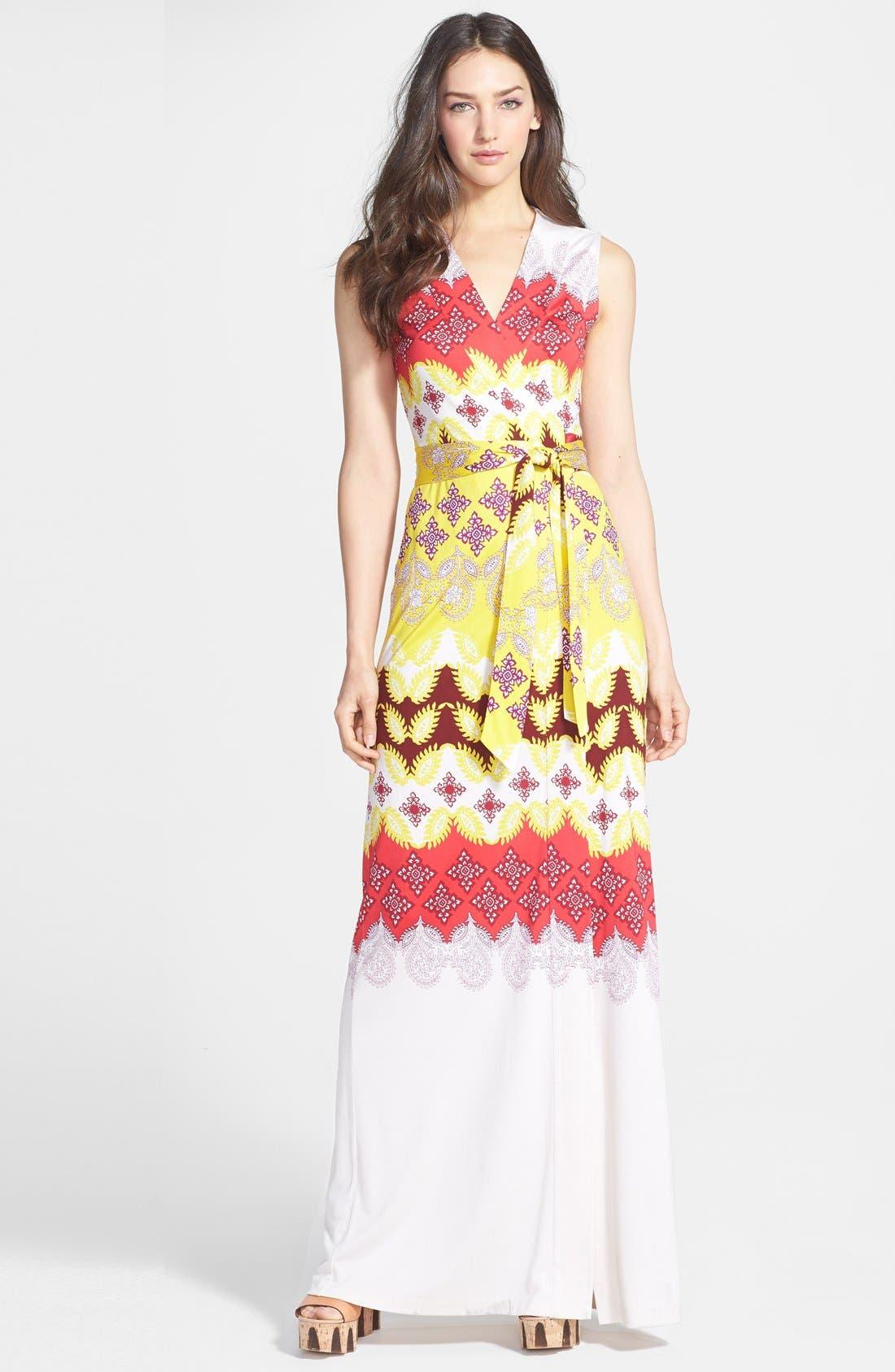 Alternate Image 1 Selected - Diane von Furstenberg 'New Yahzi' Silk Maxi Wrap Dress