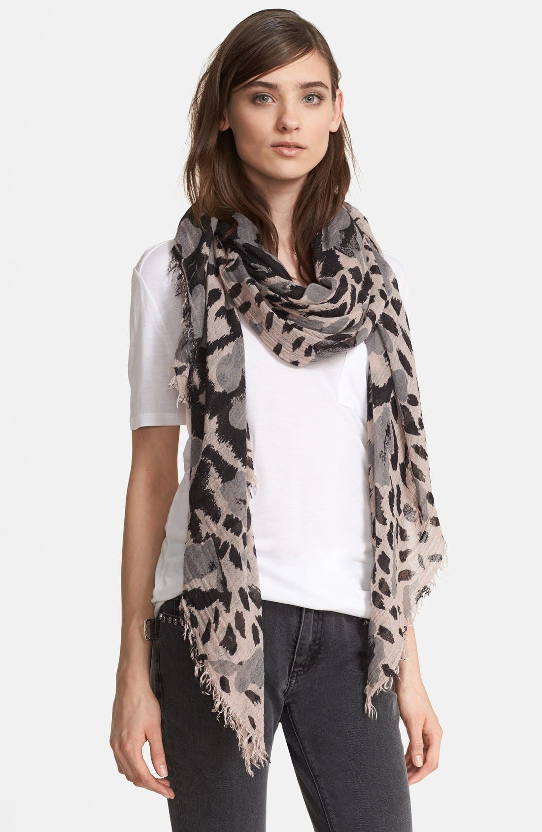 Alternate Image 1 Selected - Zadig & Voltaire 'Delta' Leopard Scarf
