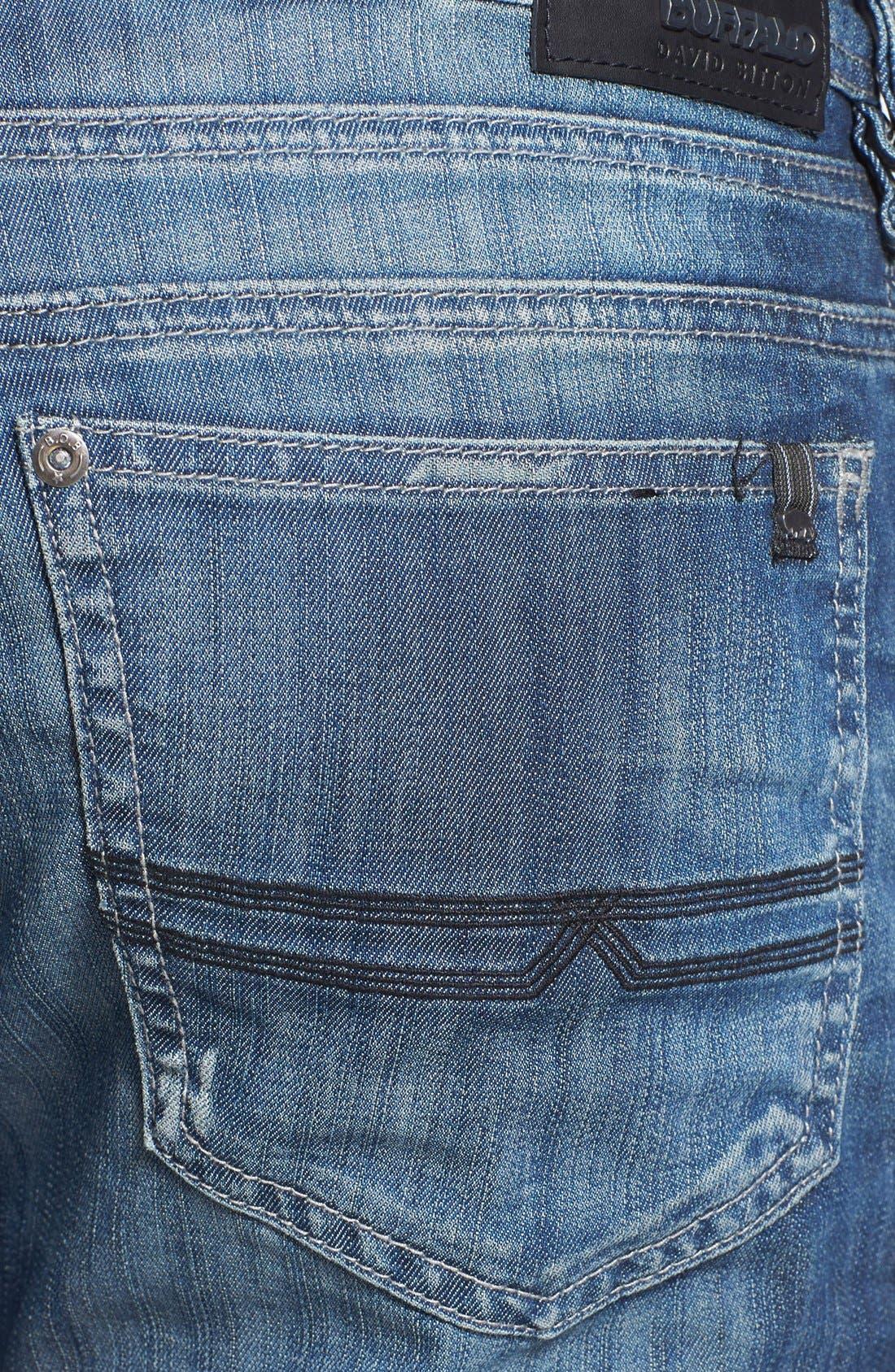 Alternate Image 4  - Buffalo Jeans 'Evan' Slim Straight Leg Jeans (Distress)