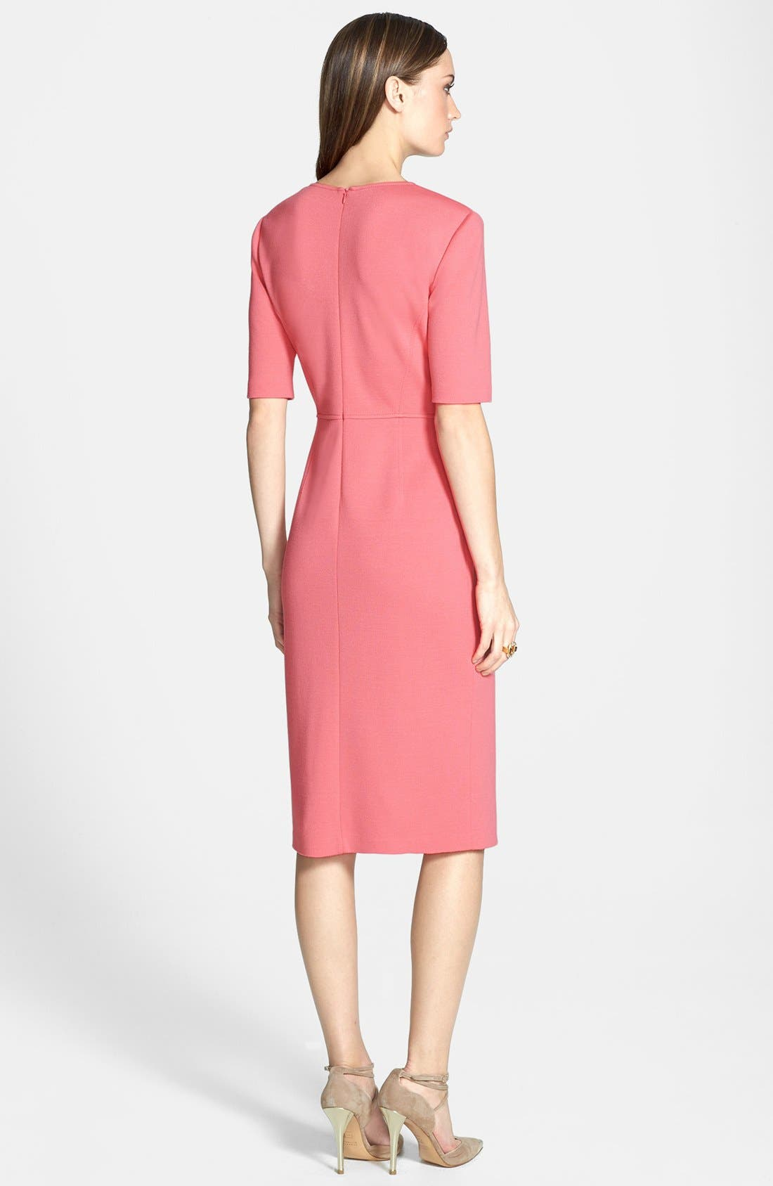 Alternate Image 2  - St. John Collection Elbow Sleeve Milano Knit Fitted Dress