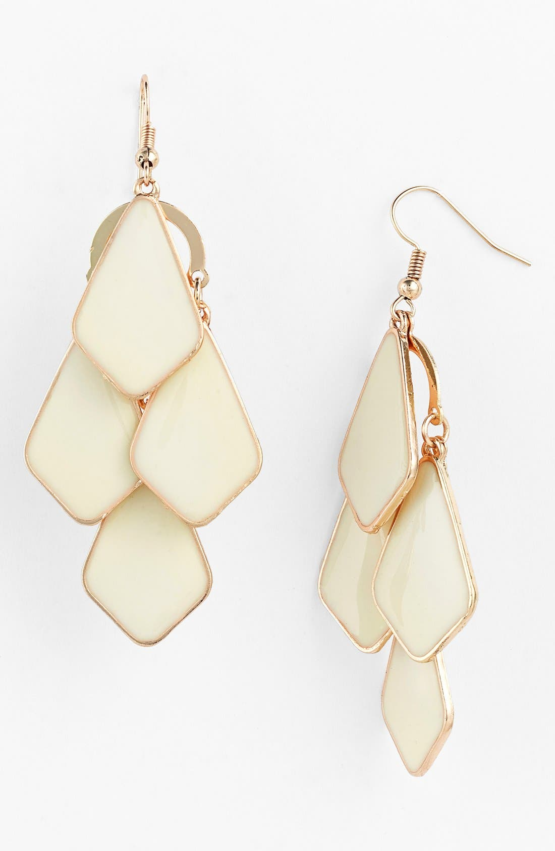 Main Image - Carole Enameled Chandelier Earrings (Juniors)