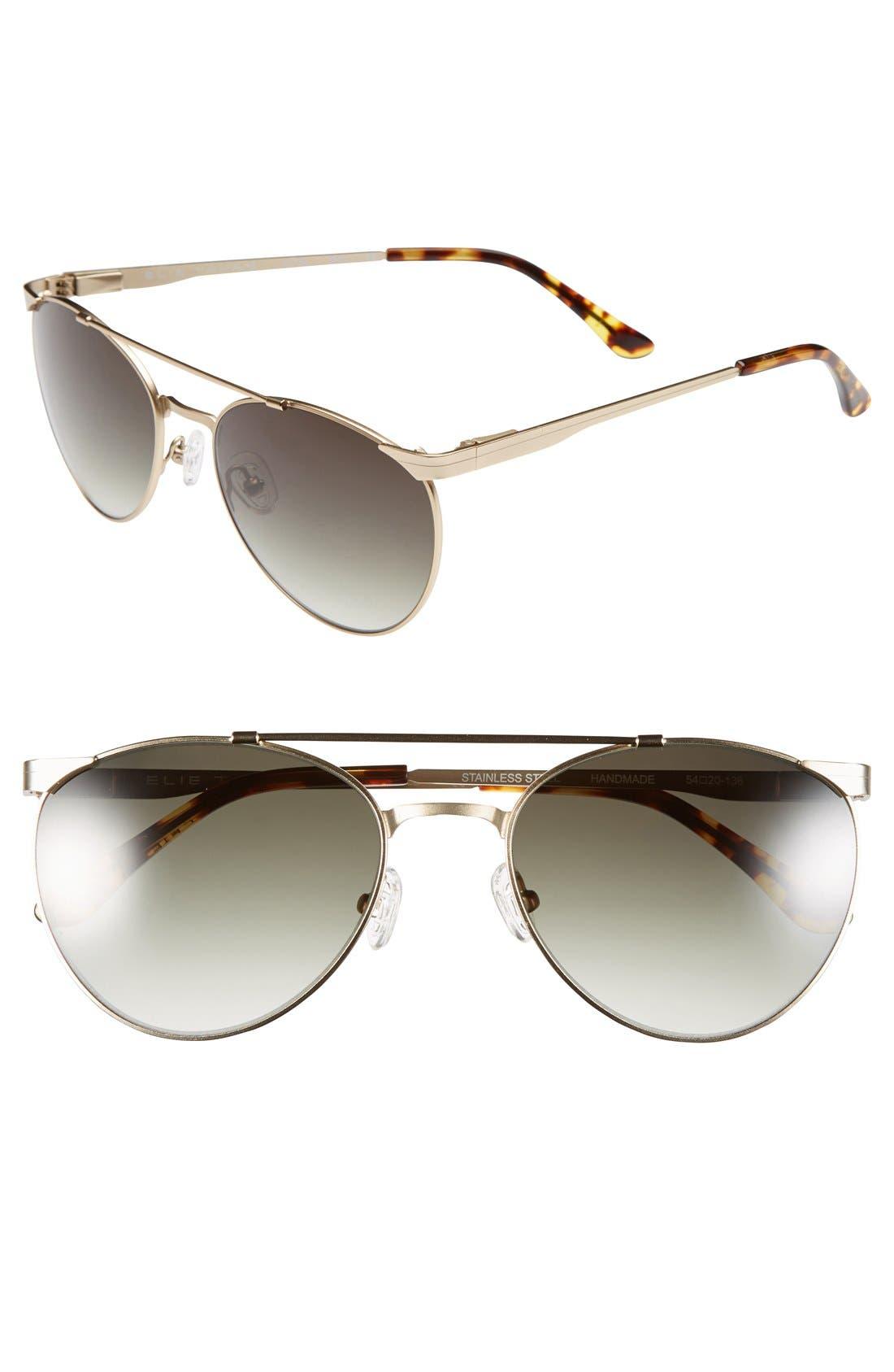 Main Image - Elie Tahari 54mm Aviator Sunglasses