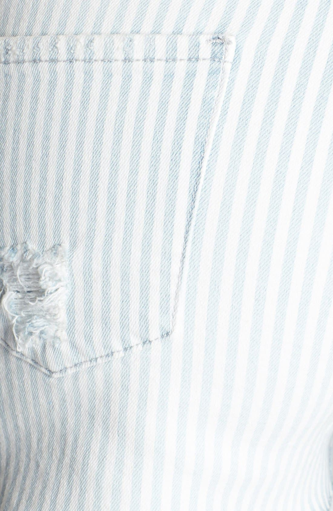 Alternate Image 3  - Articles of Society 'Madre' Stripe Denim Cutoffs (Juniors)
