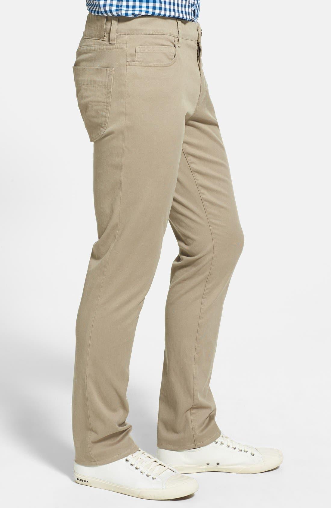 Alternate Image 3  - Vince Five Pocket Stretch Cotton Straight Leg Pants