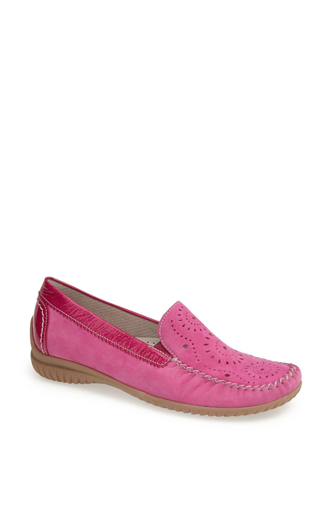 Main Image - Gabor Perforated Leather Flat