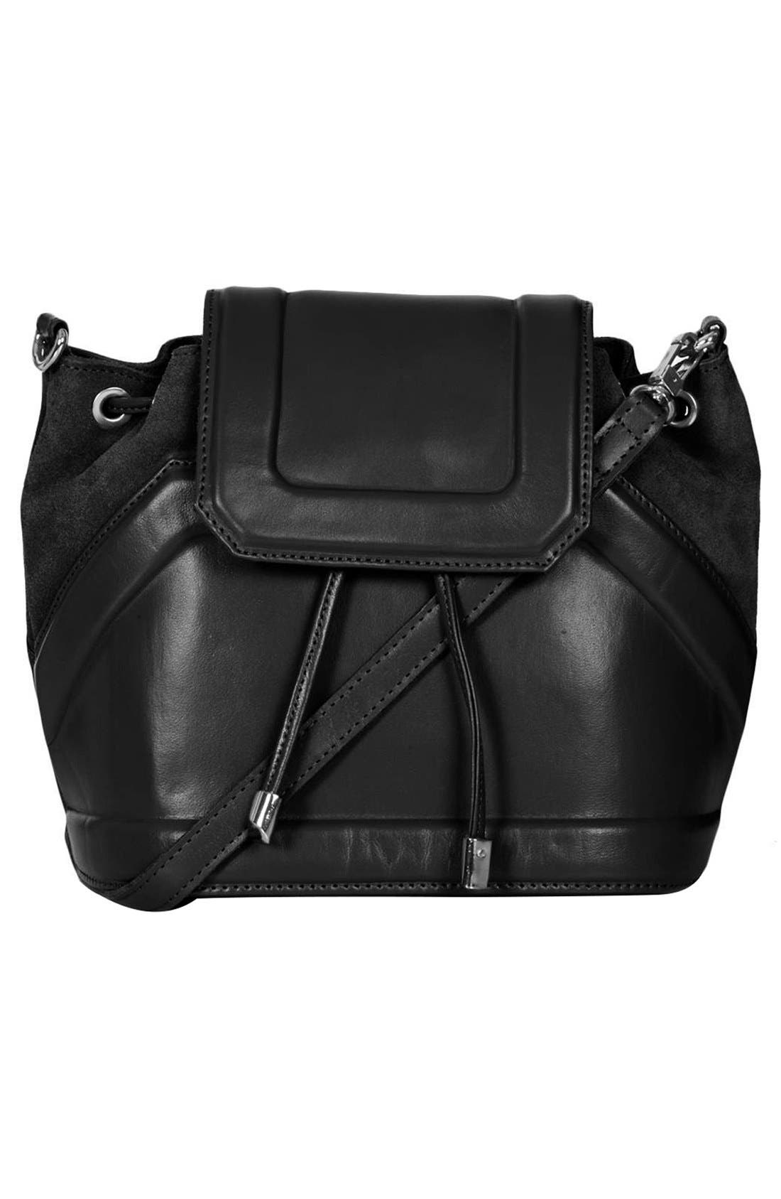 Main Image - Topshop Suede & Leather Duffle Bag