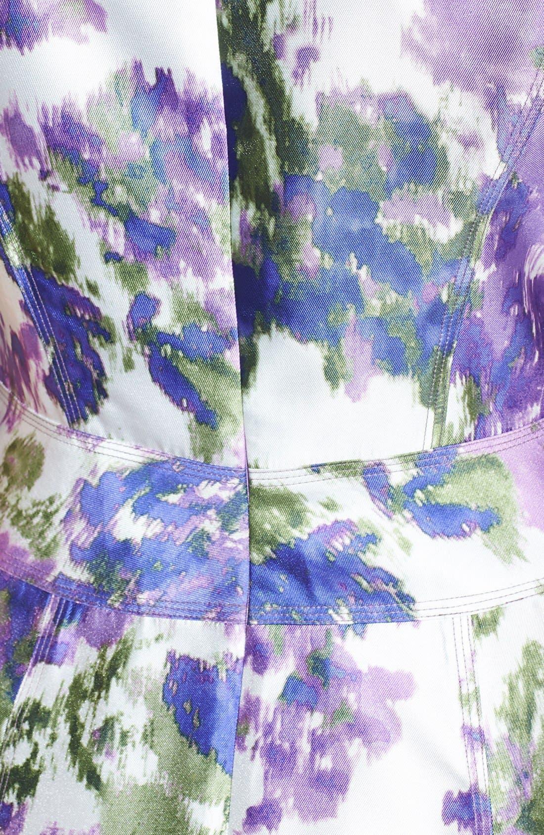 Alternate Image 4  - Maggy London Print Taffeta Fit & Flare Dress (Regular & Petite)