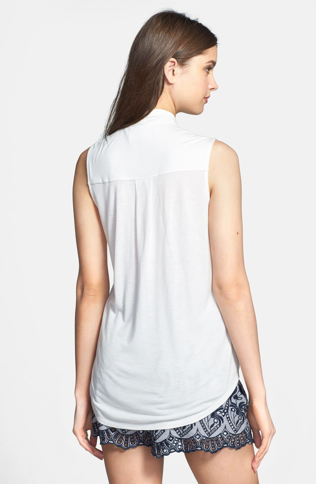 Alternate Image 2  - Two by Vince Camuto High/Low Faux Wrap Top