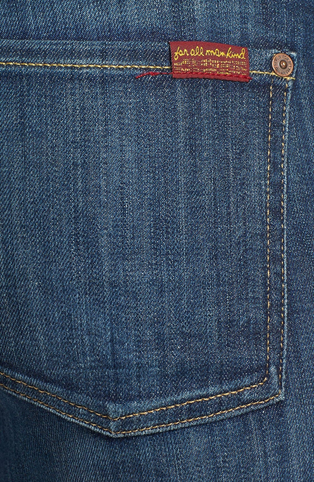 Alternate Image 3  - 7 For All Mankind® Crop Skinny Jeans (Nouveau New York Dark)