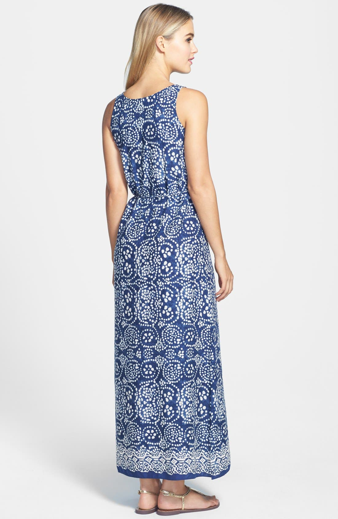 Alternate Image 2  - Two by Vince Camuto Keyhole Neck Woven Maxi Dress