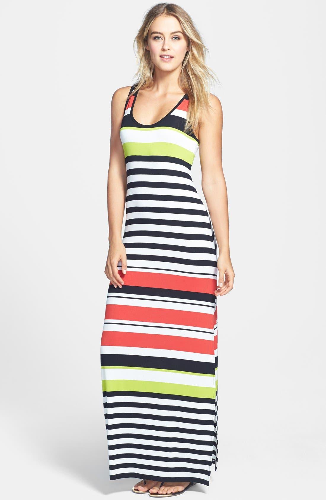 Alternate Image 1 Selected - Vince Camuto Multi Stripe Maxi Dress