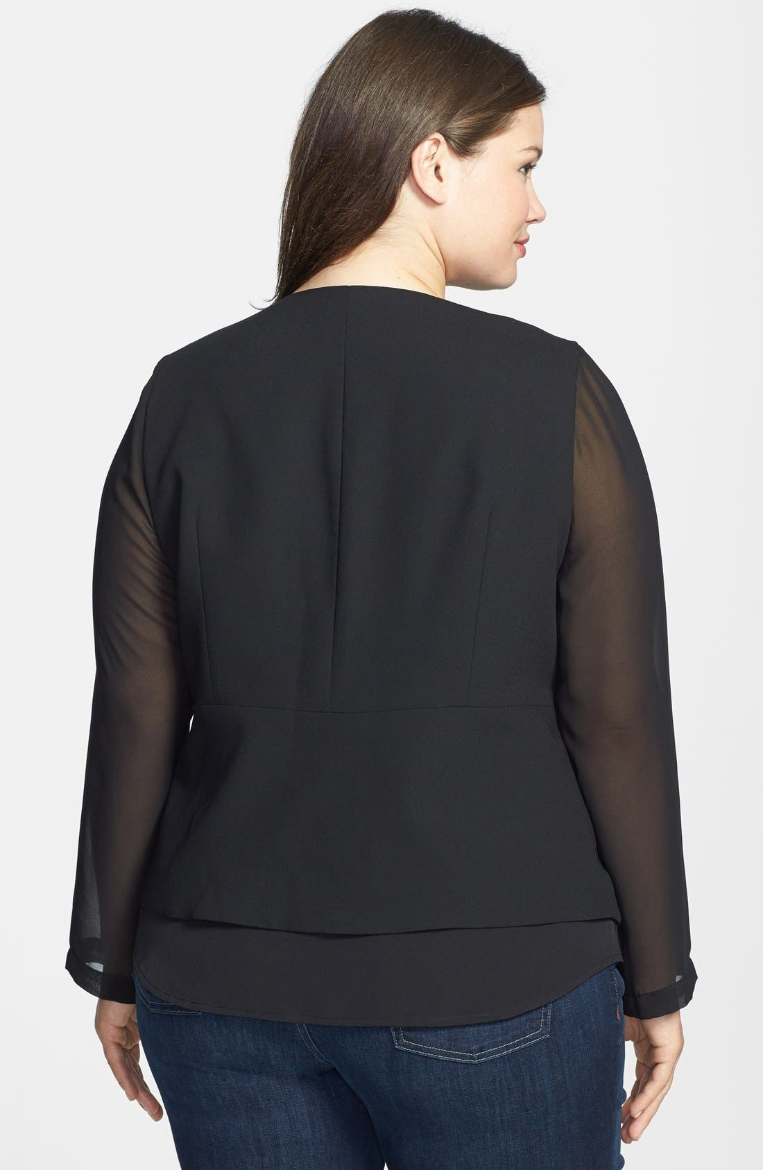 Alternate Image 2  - Vince Camuto Angled Front Jacket (Plus Size)