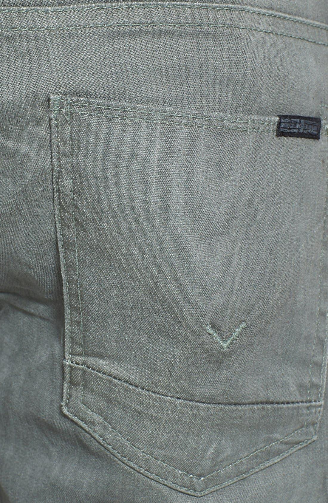 Alternate Image 4  - Hudson Jeans 'Byron' Straight Leg Jeans (Olive Vintage)