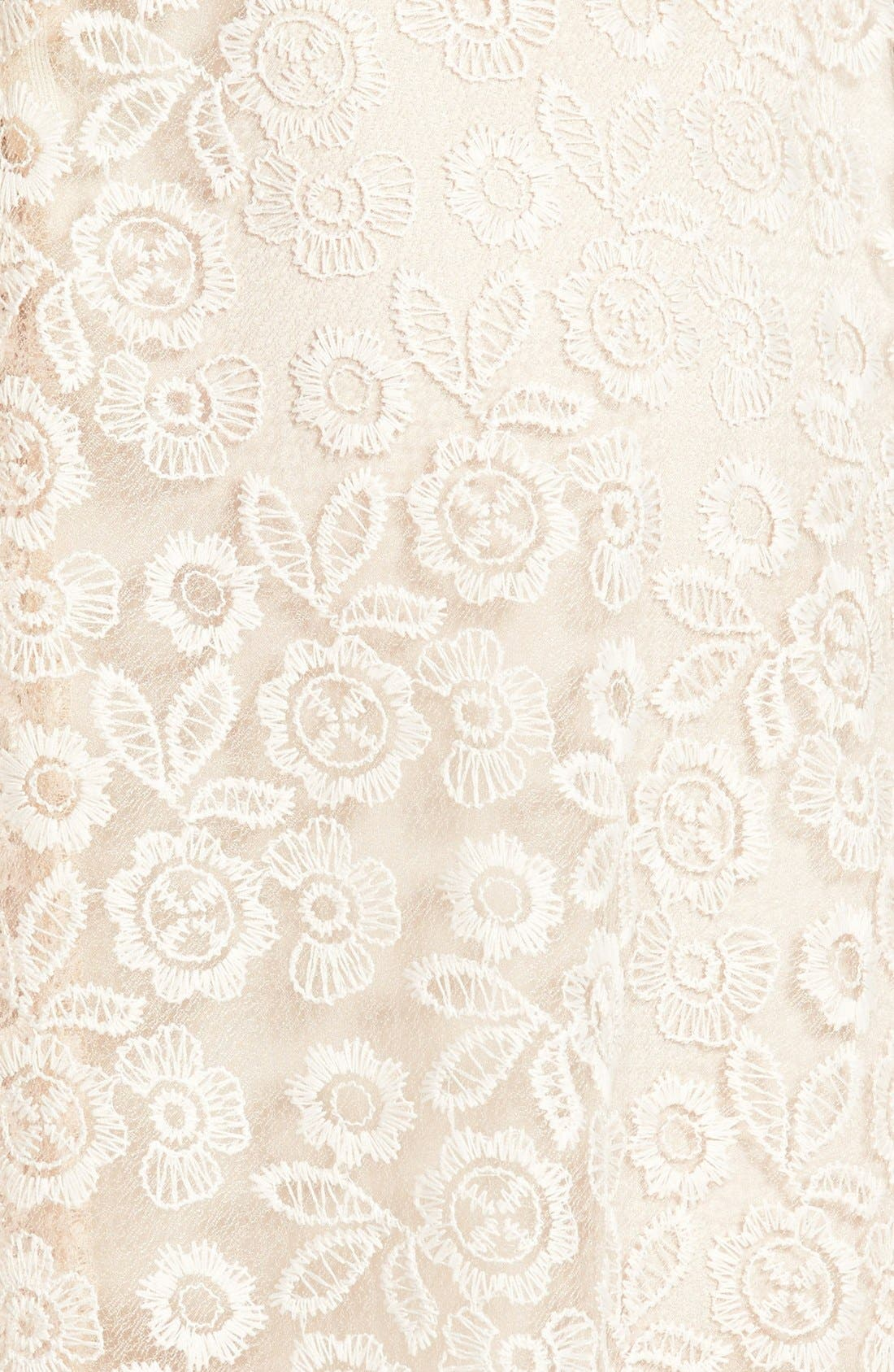 Alternate Image 3  - Wayf Embroidered Lace A-Line Skirt