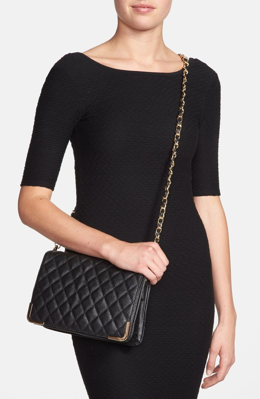 Alternate Image 2  - NB Handbags Quilted Crossbody Bag