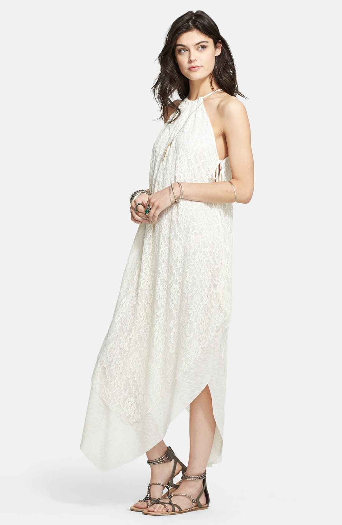 Alternate Image 1 Selected - Free People 'Olympia' Lace Overlay Maxi Dress
