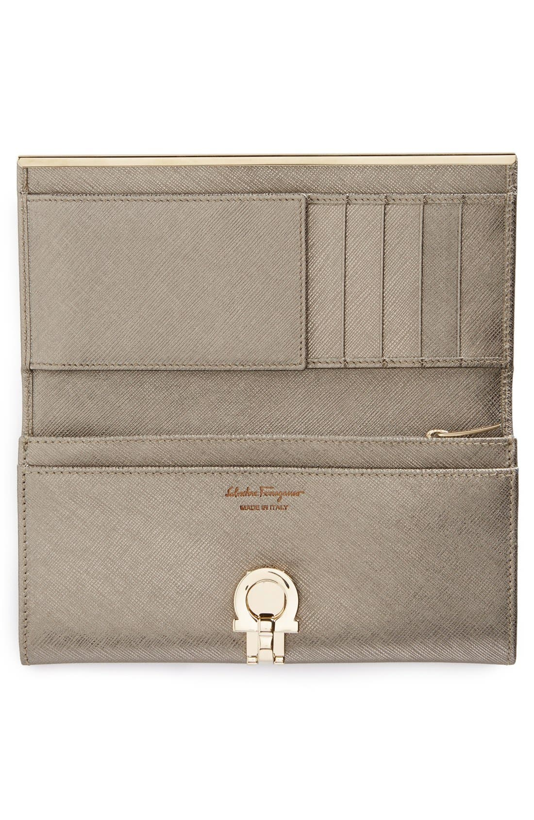 Alternate Image 2  - Salvatore Ferragamo 'Icona Bar' Saffiano Calfskin Wallet