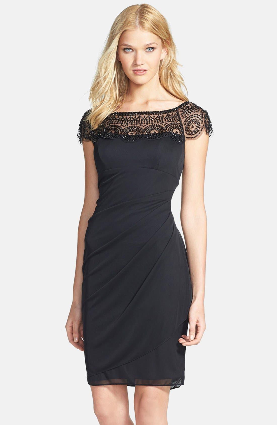 Alternate Image 1 Selected - Xscape Embellished Ruched  Sheath Dress