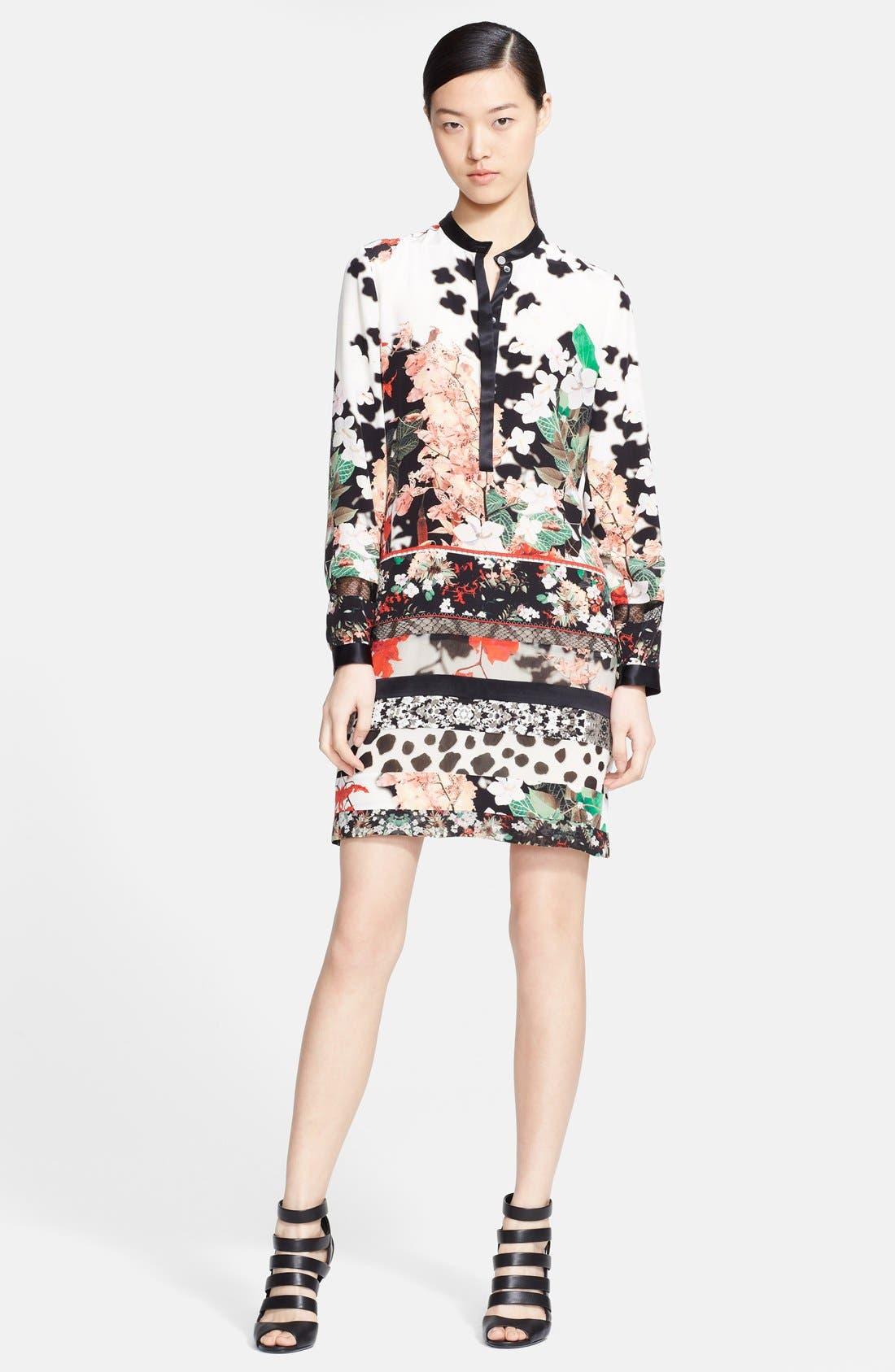 Main Image - Roberto Cavalli Print Silk Tunic Dress
