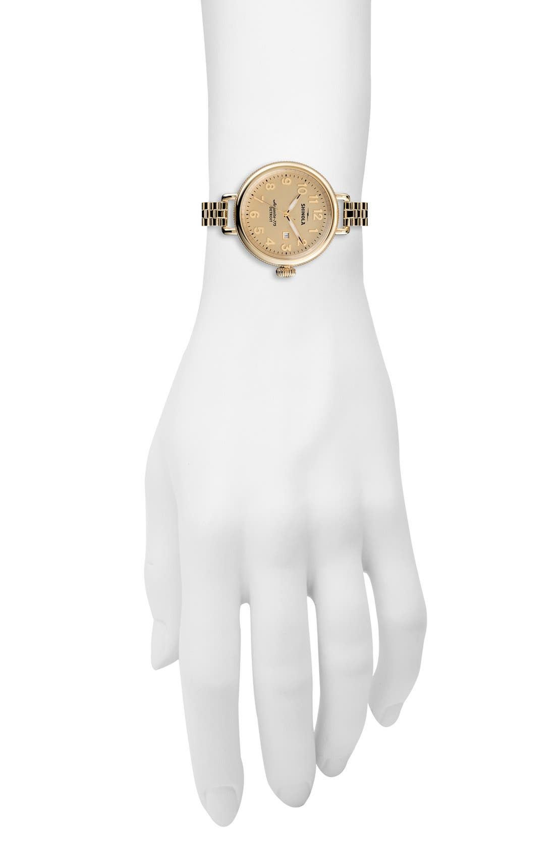 Alternate Image 4  - Shinola 'The Birdy' Bracelet Watch, 34mm