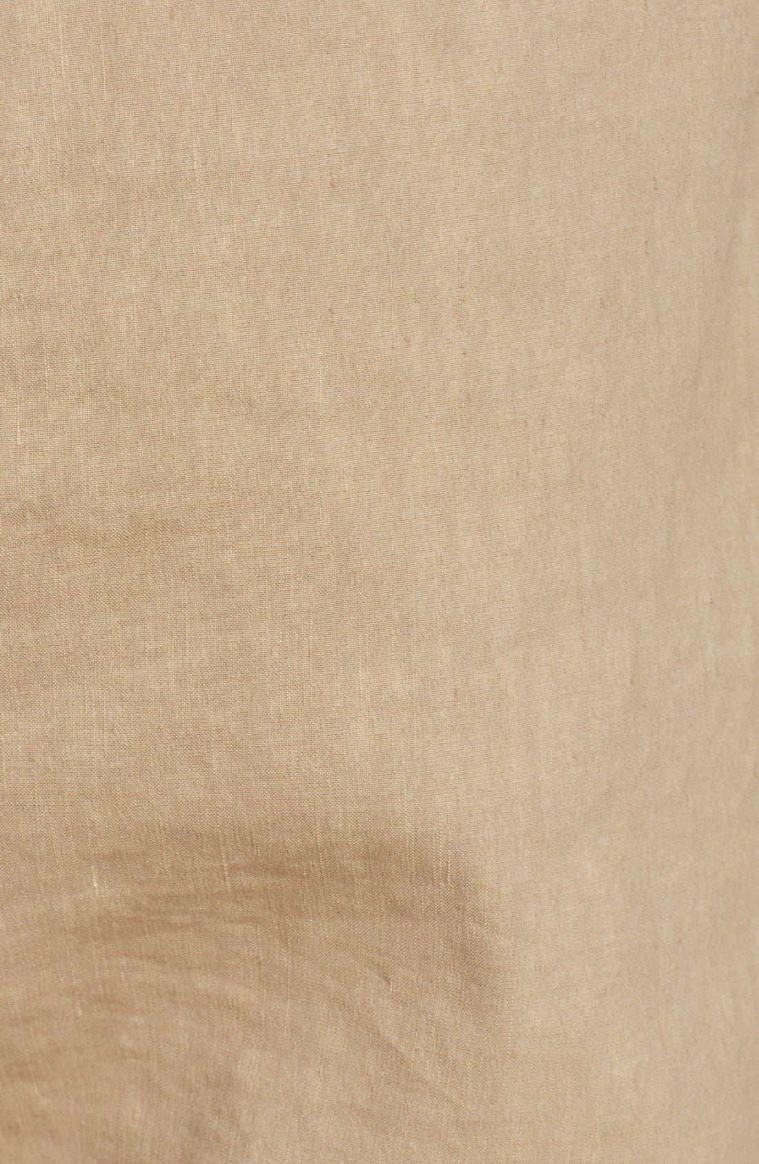 Alternate Image 3  - Theory 'Korene' Crop Linen Blend Pants