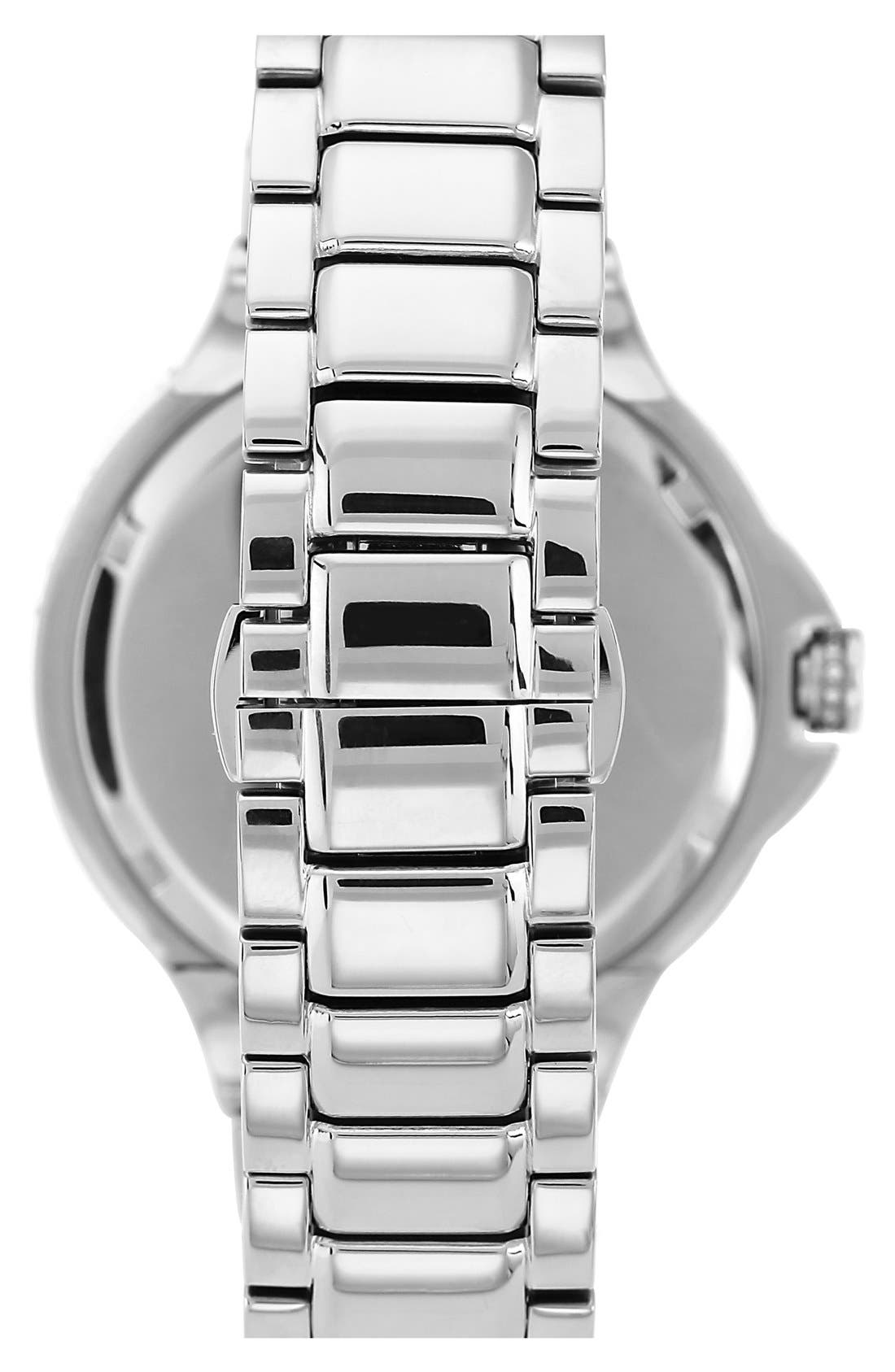 Alternate Image 2  - Vince Camuto Crystal Bezel Multifunction Bracelet Watch, 42mm