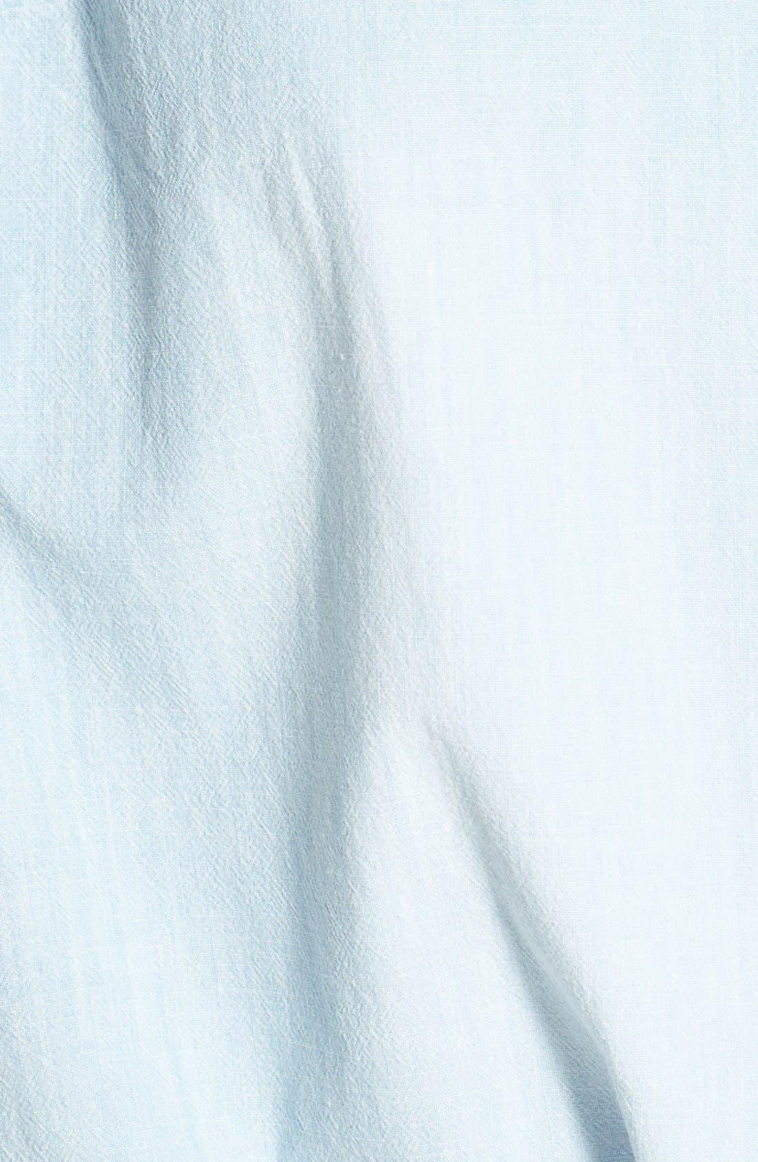 Alternate Image 3  - Jessica Simpson 'Soul' Sleeveless Tie Front Mixed Media Shirt (Plus Size)