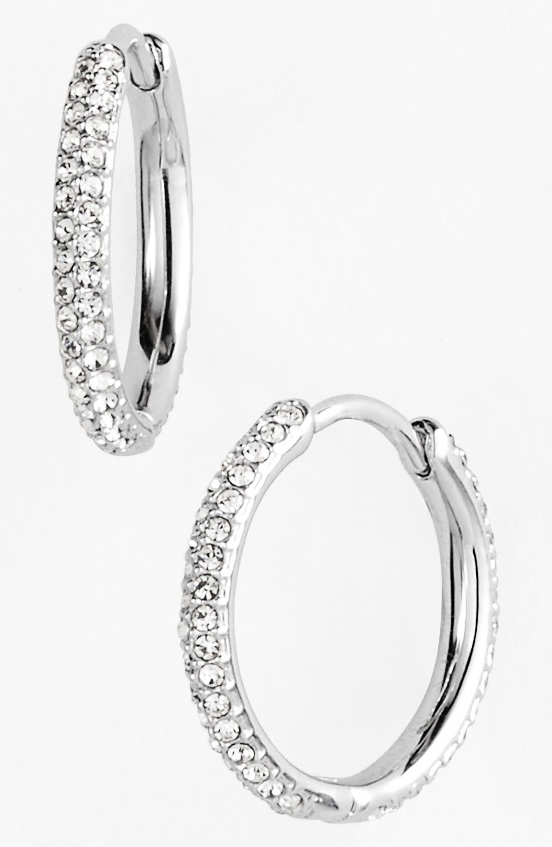 Alternate Image 1 Selected - Nadri Small Pavé Hoop Earrings (Nordstrom Exclusive)